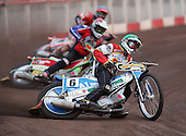Heat 2 - Moore (green), Kling (red), Mills (blue) - Lakeside Hammers vs Swindon Robins - Sky Sports Elite League at Arena Essex, Purfleet - 17/08/07  - MANDATORY CREDIT: Gavin Ellis/TGSPHOTO - SELF-BILLING APPLIES WHERE APPROPRIATE. NO UNPAID USE. TEL: 0845 094 6026..