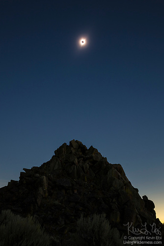 Total Solar Eclipse Over Butte, Malheur County, Oregon