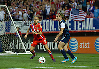 Atlanta, GA. - Thursday, February 13, 2014: The U.S. Women's National Team defeated Russia 8-0 during an International friendly match in the Georgia Dome.