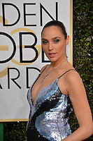 Gal Gadot at the 74th Golden Globe Awards  at The Beverly Hilton Hotel, Los Angeles USA 8th January  2017<br /> Picture: Paul Smith/Featureflash/SilverHub 0208 004 5359 sales@silverhubmedia.com