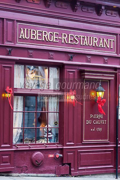 Am&eacute;rique/Am&eacute;rique du Nord/Canada/Qu&eacute;bec/Montr&eacute;al:<br /> H&ocirc;tel-Restaurant: dans la Maison Pierre du Calvet , rue Bonsecours, Vieux-Montr&eacute;al,  et Rue Saint-Paul