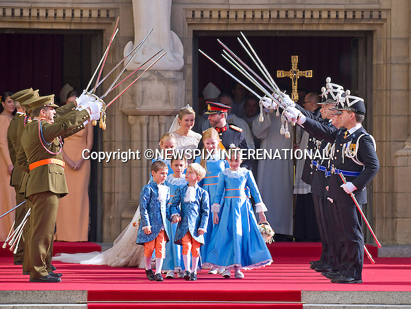 """Wedding of HRH the Hereditary Grand Duke and Countess Stéphanie de Lannoy.Religious Ceremony at Cathedral of Our lady of Luxembourg, Luxembourg_20-10-2012.Mandatory credit photo: ©Dias/NEWSPIX INTERNATIONAL..(Failure to credit will incur a surcharge of 100% of reproduction fees)..                **ALL FEES PAYABLE TO: """"NEWSPIX INTERNATIONAL""""**..IMMEDIATE CONFIRMATION OF USAGE REQUIRED:.Newspix International, 31 Chinnery Hill, Bishop's Stortford, ENGLAND CM23 3PS.Tel:+441279 324672  ; Fax: +441279656877.Mobile:  07775681153.e-mail: info@newspixinternational.co.uk"""