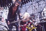 Motley Crue  at Castle Donnington , England Aug 1984 Donnington Monsters of Rock 1984 Donnington 1984