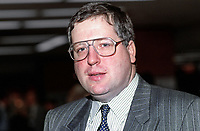 Patrick McLoughlin, MP, Conservative Party, UK, at annual conference, October 1992. 19921063PML..Copyright Image from Victor Patterson, 54 Dorchester Park, Belfast, UK, BT9 6RJ..Tel: +44 28 9066 1296.Mob: +44 7802 353836.Voicemail +44 20 8816 7153.Skype: victorpattersonbelfast.Email: victorpatterson@me.com.Email: victorpatterson@ireland.com (back-up)..IMPORTANT: If you wish to use this image or any other of my images please go to www.victorpatterson.com and click on the Terms & Conditions. Then contact me by email or phone with the reference number(s) of the image(s) concerned.