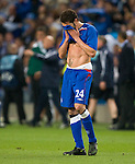 Carlos Cuellar distraught at the end