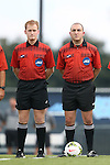15 August 2014: Fourth Official Robert Dail and referee David Erbuche. The University of North Carolina Tar Heels hosted the Gardner-Webb University Bulldogs at Fetzer Field in Chapel Hill, NC in a 2014 NCAA Division I Men's Soccer preseason match. North Carolina won the exhibition 7-0.