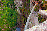Fumaca Waterfall Diamantina National Park, Brazil  1, 500 feet high  23th highest in world   Mesas in tropical rainforest