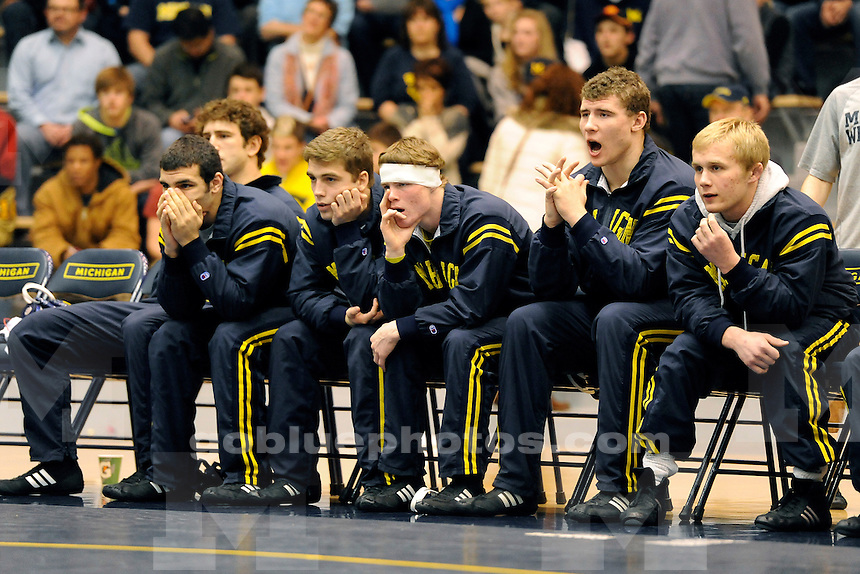Michigan men's wrestling vs. Purdue at UM's Cliff Keen Arena, Friday, January 10, 2014.