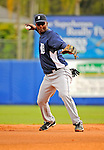 11 March 2008: Detroit Tigers' shortstop Edgar Renteria warms up prior to a Spring Training game against the Cleveland Indians at Chain of Lakes Park, in Winter Haven Florida.The Tigers rallied to defeat the Indians 4-2 in the Grapefruit League matchup....Mandatory Photo Credit: Ed Wolfstein Photo