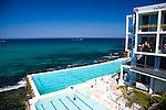 Bondi Beach on a sunny, warm Sunday morning, Sydney, NSW, Australia