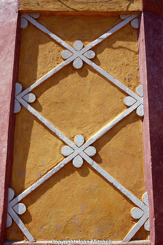 Architectural detail om exterior of cultural centre in the village of San Sebastian Bernal, Querétaro state, Mexico