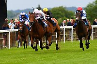 Winner of The Smith & Williamson Maiden Fillies' Stakes (Div1), Fleur Forsyte ridden by Daniel Muscott and trained by James Fanshawe during Afternoon Racing at Salisbury Racecourse on 18th May 2017