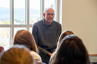 20141030 Michael Pollan visits Honors College Class and Speaks at Ira Allen Chapel