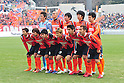 Omiya Ardija team group line-up,..FEBRUARY 20, 2011 - Football :..Omiya Ardija team group shot (Top row - L to R) Takashi Kitano, Rafael, Takuya Aoki, Kim Young-Gwon, Shusuke Tsubouchi, (Bottom row - L to R) Lee Chun-Soo, Arata Sugiyama, Daisuke Watabe, Kota Ueda, Kazuhiro Murakami and Chikara Fujimoto before the Saitama City Cup match between Omiya Ardija 3-0 Urawa Red Diamonds at NACK5 Stadium Omiya in Saitama, Japan. (Photo by AFLO)