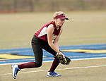 Waterbury, CT- 20 April 2017-042017CM07- Sacred Heart's Kayleigh O'Donnell fields the ball during their softball matchup against Holy Cross on Thursday.  Holy Cross would go onto win, 7-0.   Christopher Massa Republican-American
