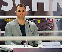 GERMANY: Wladimir Klitschko during the press conference to Anthony Joshua vs. Wladimir Klitschko at RTL media group mall on February 16, 2017 in Cologne, Germany.<br />