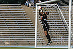 02 November 2008: Miami's Vikki Alonzo makes a save. The University of North Carolina Tar Heels defeated the University of Miami Hurricanes 1-0 at Fetzer Field in Chapel Hill, North Carolina in an NCAA Division I Women's college soccer game.