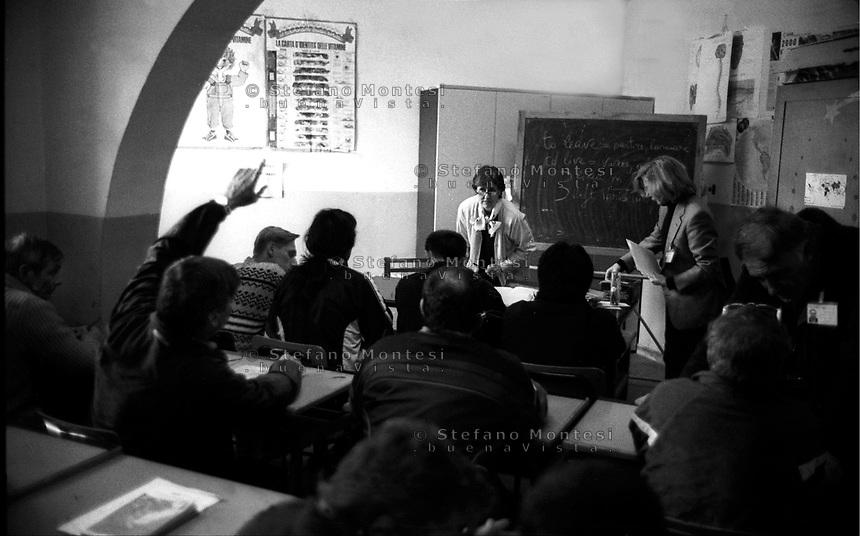 Roma 2000.Carcere di Regina Coeli  .La Scuola. Regina Coeli (Queen of Heaven) Prison.The school