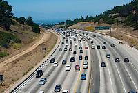 Sepulveda pass, l-405 Freeway, From Mulholland Bridge,  Widening Project, Los Angeles, CA