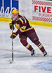 24 November 2012: University of Minnesota Golden Gopher defenseman Nate Schmidt, a Junior from St. Cloud, MN, in action against the University of Vermont Catamounts at Gutterson Fieldhouse in Burlington, Vermont. The Gophers defeated the Catamounts 3-1 in the second game of their 2-game non-divisional weekend series. Mandatory Credit: Ed Wolfstein Photo