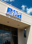 RIM sign on Research in Motion company headquarters building against blue sky. Waterloo, Ontario, Canada.