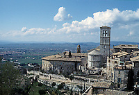 Italy: Assisi--Town and Countryside from near Santa Chiara. Photo '85.