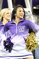 Nov 08, 2014:  Washington cheerleader Casmir Canares pumped up fans during the game against UCLA.  Washington defeated UCLA at Husky Stadium in Seattle, WA.