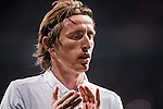 Luka Modric of Real Madrid reacts during the 2016-17 UEFA Champions League match between Real Madrid and Borussia Dortmund at the Santiago Bernabeu Stadium on 07 December 2016 in Madrid, Spain. Photo by Diego Gonzalez Souto / Power Sport Images