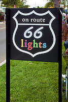 On Route 66 Lights Sign, Santa Monica Boulevard, WeHo
