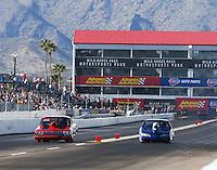 Feb 25, 2017; Chandler, AZ, USA; NHRA super gas driver XXXX during qualifying for the Arizona Nationals at Wild Horse Pass Motorsports Park. Mandatory Credit: Mark J. Rebilas-USA TODAY Sports