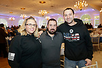 Southington, CT- 24 March 2017-030717CM09- From left, Jessica Murray of Thomaston, Matthew Neuman of Oakville and Mark Bartolomeo of Thomaston are photographed during the 25th annual Nutmeg Friends of the NRA dinner at the Aqua Turf in Southington on Friday.     Christopher Massa Republican-American