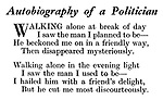 Autobiography of a Politician
