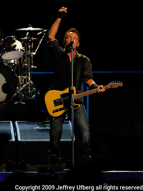 "November 7, 2009 New York: Singer / Musician Bruce Springsteen performs ""Madison Square Garden"" on November 7, 2009 in New York."