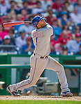 1 June 2014: Texas Rangers infielder Elvis Andrus in action against the Washington Nationals at Nationals Park in Washington, DC. The Rangers shut out the Nationals 2-0 to salvage the third the third game of their 3-game inter-league series. Mandatory Credit: Ed Wolfstein Photo *** RAW (NEF) Image File Available ***