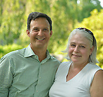 Ben Rodriguez-Cubanas and Susanne Pandich of the Rockefeller Brothers Fund at Gallim Dance at The Pocantico Center, Kykuit, New York.