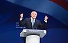 Conservative Party Conference <br /> Manchester, Great Britain <br /> Day 3<br /> 6th October 2015 <br /> <br /> Iain Duncan Smith <br /> keynote speech <br /> <br /> <br /> Photograph by Elliott Franks <br /> Image licensed to Elliott Franks Photography Services