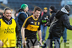 Kieran O'Leary and Harry O'Neill Dr. Crokes players and supporters celebrate defeating Corofin in the Semi Final of the Senior Football Club Championship at the Gaelic Grounds, Limerick on Saturday.