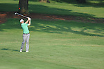 Golfer Keegan Bradley swings on the 10th hole at the PGA FedEx St. Jude Classic at TPC Southwind in Memphis, Tenn. on Thursday, June 9, 2011.