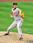 19 June 2011: Baltimore Orioles' pitcher Koji Uehara on the mound against the Washington Nationals on Father's Day at Nationals Park in Washington, District of Columbia. The Orioles defeated the Nationals 7-4 in inter-league play, ending Washington's 8-game winning streak. Mandatory Credit: Ed Wolfstein Photo