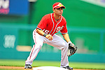 29 May 2011: Washington Nationals infielder Jerry Hairston in action against the San Diego Padres at Nationals Park in Washington, District of Columbia. The Padres defeated the Nationals 5-4 to take the rubber match of their 3-game series. Mandatory Credit: Ed Wolfstein Photo