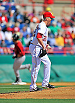 4 March 2012: Washington Nationals pitcher Tom Gorzelanny stands on the mound after serving up a home run to the Houston Astros at Space Coast Stadium in Viera, Florida. The Astros defeated the Nationals 10-2 in Grapefruit League action. Mandatory Credit: Ed Wolfstein Photo