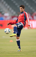 CARSON, CA – SEPTEMBER 10: Chivas USA midfielder Sal Zizzo (15) during warm-ups at Home Depot Center, September 10, 2010 in Carson California.