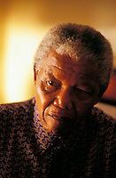 President Nelson Mandela at his home in Houghton, Johannesburg.