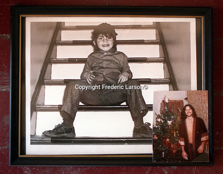 Jimmy Cox family photographs of when he was 9-years-old and home for Christmas at age 18.  Argyle before his death by a Muni train was inimate with Valery.  Both sleeping on store front steps to stay out of the rain on Haight Street.