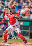 4 March 2013: St. Louis Cardinals catcher Tony Cruz in action during a Spring Training game against the Minnesota Twins at Roger Dean Stadium in Jupiter, Florida. The Twins shut out the Cardinals 7-0 in Grapefruit League play. Mandatory Credit: Ed Wolfstein Photo *** RAW (NEF) Image File Available ***