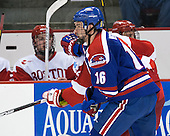 Riley Wetmore (UML - 16) - The visiting University of Massachusetts Lowell River Hawks defeated the Boston University Terriers 3-0 on Friday, February 22, 2013, at Agganis Arena in Boston, Massachusetts.