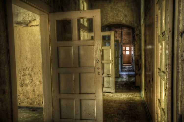 AN old lunatic asylum outside of Berlin with corridor