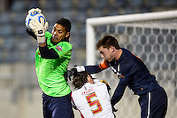 Maryland Terrapins goalkeeper Zack Steffen (99) grabs a pass. The Maryland Terrapins defeated Virginia Cavaliers 2-1 during the semifinals of the 2013 NCAA division 1 men's soccer College Cup at PPL Park in Chester, PA, on December 13, 2013.