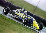 Dan Wheldon testing a Duckhams works Van Diamond  at Snetterton 1997