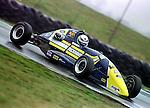 Dan Wheldon testing a Duckhams works Van Diamond  at Snetterton 1997